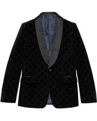 Gucci GG Velvet Jacket - Black