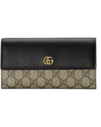 Gucci - GG Marmont Leather Continental Wallet - Lyst