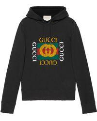 Gucci - Sudadera extragrande con logotipo - Lyst