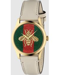 Gucci G-Timeless Uhr, 38 mm - Weiß