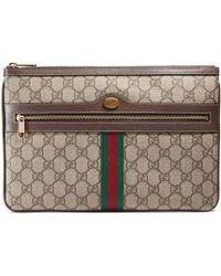 5b71440b4 Gucci Neo Vintage Gg Supreme Pouch - Lyst