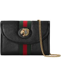 0fe7b4273a7 Gucci Xl Leather Mini Bag in Black - Lyst