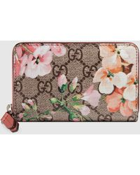 Gucci GG Blooms Card Case - Pink