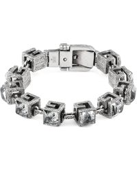 Gucci - Bracelet With Square G Cubes In Silver - Lyst