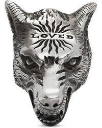 Gucci - Anillo Anger Forest de Plata con Cabeza de Lobo - Lyst