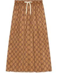 Gucci GG Technical Jersey Skirt - Natural