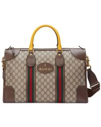 Gucci - Soft Gg Supreme Duffle Bag With Web - Lyst
