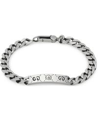 Gucci Ghost Chain Bracelet In Silver - Metallic