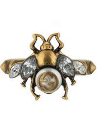 Gucci Bague abeille avec détail GG - Métallisé
