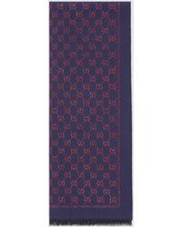 Gucci - グッチメタリックGG ウール スカーフ - Lyst