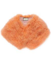 Gucci Ostrich Feather Cape - Orange