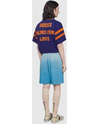 """Gucci - 【公式】 (グッチ)""""25 Eschatology And Blind For Love 1921""""プリント Tシャツブルーブルー - Lyst"""