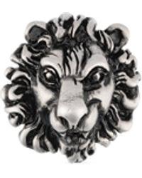 Gucci Broche de cabeza de león - Negro