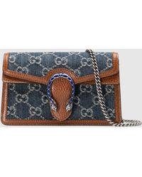 Gucci Dionysus Super Mini Tasche - Blau