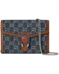Gucci Dionysus Mini Tasche mit Kettenriemen - Blau