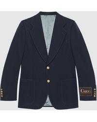 Gucci - Jackett aus Wolle mit Etikett - Lyst