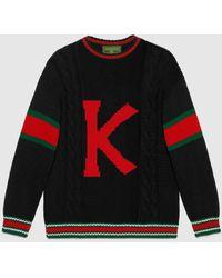 Gucci グッチdiy ユニセックス ウール セーター - ブラック