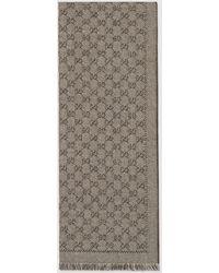 Gucci グッチGGジャカードウール スカーフ - ナチュラル