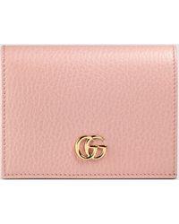 Gucci Kartenetui aus Leder - Pink