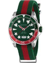 Gucci Reloj Dive, 40mm - Verde