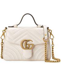 Gucci Minibolso de mano GG Marmont - Blanco