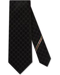 Gucci Krawatte mit GG-Muster - Schwarz