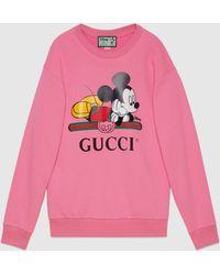 Gucci グッチ公式disney (ディズニー) X オーバーサイズ スウェットシャツピンク コットンcolor_descriptionオーガニック生地
