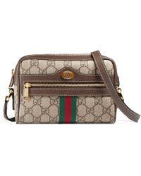Gucci Ophidia GG Supreme Mini Bag - Natural