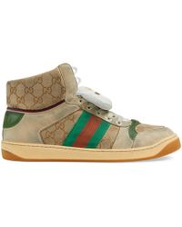 c6418a339acd2 Lyst - Gucci Bengal High-top Sneaker in Natural for Men