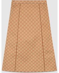 Gucci - GGキャンバス スカート - Lyst