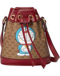 Gucci Mini borsa a secchiello Doraemon x - Neutro
