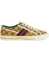 Gucci Zapatilla Tennis 1977 GG Multicolor para hombre - Amarillo