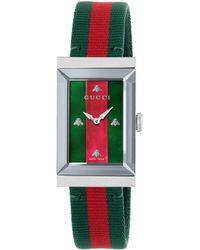 07076bcfa9e Gucci Ya147501 Women s G-frame Bracelet Strap Watch in Metallic - Lyst
