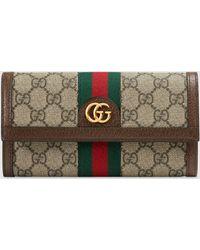 Gucci DIY Ophidia Continental Brieftasche mit GG - Natur