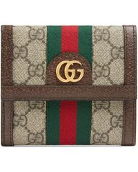 Gucci Ophidia GG Wallet - Brown
