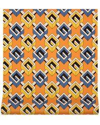 Gucci Papel pintado con G geométrica - Naranja