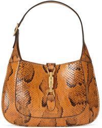Gucci Bolso de hombro pequeño de pitón Jackie 1961 - Naranja