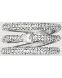 Gucci Dreireihiger Ouroboros-Ring mit Diamanten - Mehrfarbig