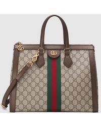 Gucci Mittelgroßer Ophidia Shopper mit GG - Grün