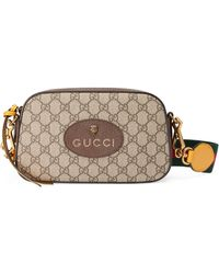 Gucci Neo Vintage GG Supreme Messenger Bag - Natural