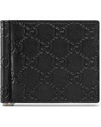 Gucci Signature Money Clip Wallet - Black
