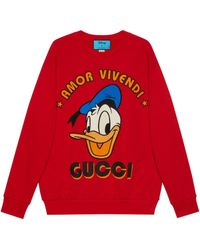 Gucci Sudadera pato Donald Disney x - Rojo