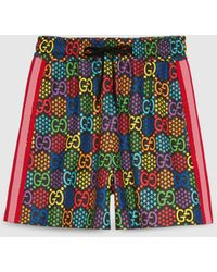 Gucci Shorts mit GG Psychedelic Print - Schwarz
