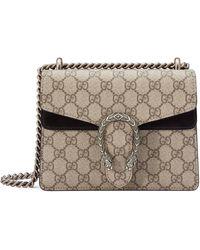 Gucci Dionysus Mini Tasche aus GG Supreme - Braun