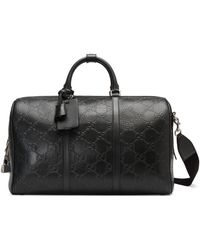 Gucci GG Embossed Duffle Bag - Black