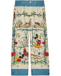 Gucci Disney X Silk Pyjama Trousers - White