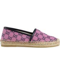 Gucci GG Multicolour Espadrille - Pink