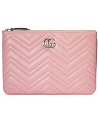 Gucci GG Marmont Pouch - Pink