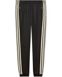 Gucci Oversize Technical Jersey Track Bottoms - Black