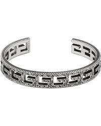 Gucci - Cuff Bracelet With Square G Motif - Lyst